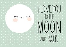 poster love you to the moon and back