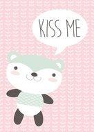 poster babykamer kiss me