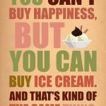 ben even een ijsje halen..