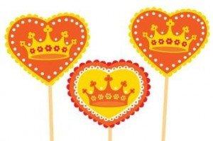 cupcakesvlaggetjes koningsdag